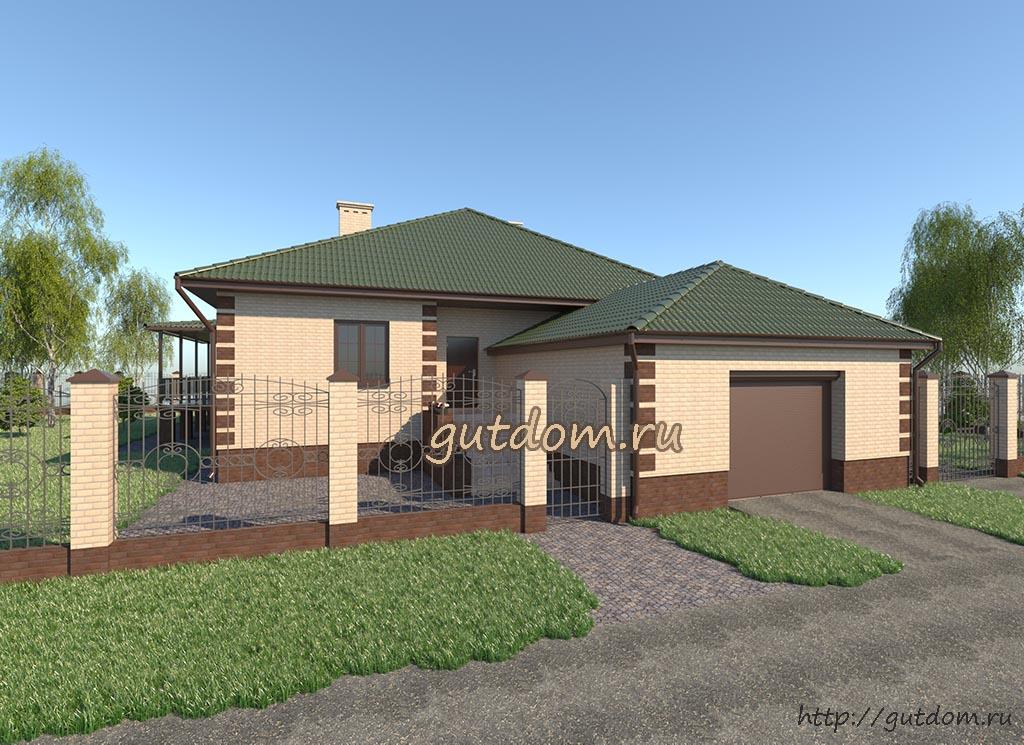 Проект дома 150 м2 в г. Пенза ГаП47