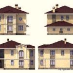 фасады дома из кирпича