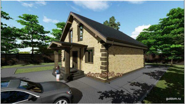 Готовый проект двухэтажного дома площадью 126 м2 АК20-12