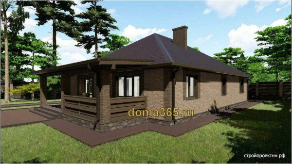 Готовый проект одноэтажного дома с гаражом 194,2 м2 АК20-11 и ... вторым светом
