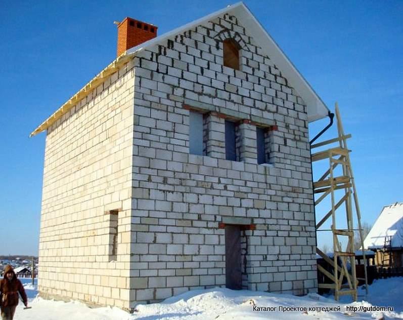двухэтажный дом из газосиликатных блоков фото электрик