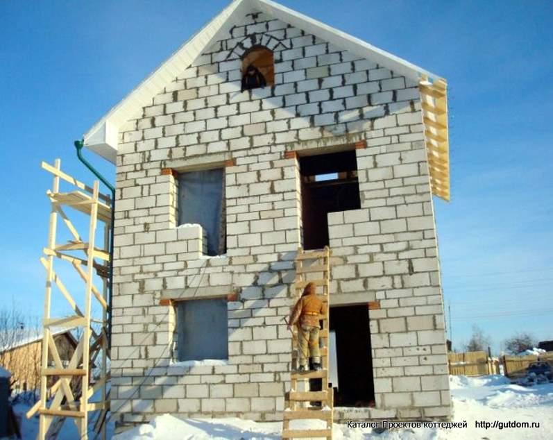 дома из пеноблоков 2 этажа